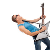 Passionate guitarist Royalty Free Stock Photos