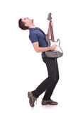 Passionate guitarist Stock Photos