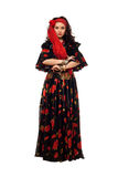Passionate gypsy woman Royalty Free Stock Photography