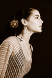 Passionate hispanic woman Royalty Free Stock Image