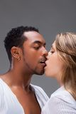 Passionate kiss. Royalty Free Stock Image