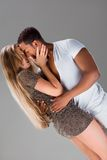 Passionate kiss. Stock Images