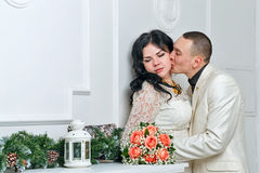 Passionate kiss Stock Images