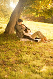 Passionate love in the park  Stock Image