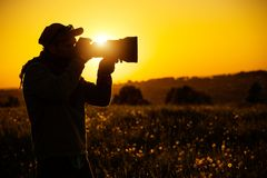 Passionate Outdoor Photographer Stock Photography