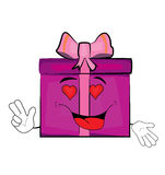 Passionate Present box cartoon Stock Photography