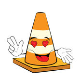 Passionate Road cone cartoon Stock Photography
