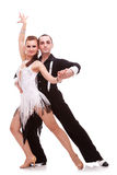 Passionate salsa dancers Royalty Free Stock Image