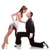 Passionate salsa dancing couple Royalty Free Stock Images