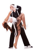 Passionate salsa dancing couple Stock Image