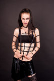 Passionate sexy gothic girl Royalty Free Stock Photo