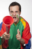Passionate South African Fan Royalty Free Stock Photography