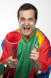 Passionate South African Fan Royalty Free Stock Photo