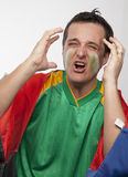 Passionate South African Fan Stock Photo