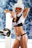Passionate sportswoman Stock Image