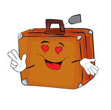 Passionate Suitcase cartoon Stock Photos