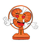 Passionate table fan cartoon Stock Images