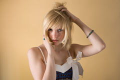 Passionate teenager girl Stock Photo