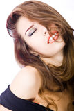 Passionate young woman Royalty Free Stock Images