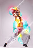 Passionate young woman dancer Royalty Free Stock Image