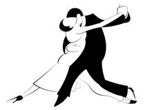 Passionately dancing man and woman Royalty Free Stock Images