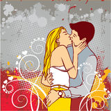 Passionately kissing couple Stock Photo