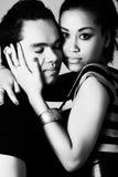Passionately loving my indonesian boyfriend royalty free stock photography