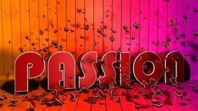 Passionbokstavsbegrepp Stock Illustrationer