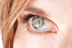 Passione dei soldi Fotografia Stock Libera da Diritti