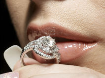 Passione del diamante fotografie stock libere da diritti