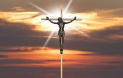 Passione di Jesus Christ sull'incrocio Fotografia Stock Libera da Diritti