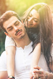 Passione ed armonia rapporto Amore e felicità Fotografia Stock Libera da Diritti