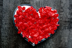 Passione rossa di romance di amore del cuore di giorno di S. Valentino Immagini Stock Libere da Diritti