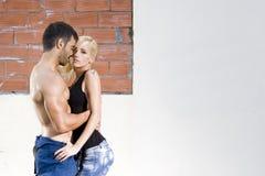 Passione sexy delle coppie Fotografia Stock Libera da Diritti