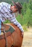 passionerad cowboy Royaltyfri Foto
