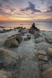 Passionerad fotograf på den Tembeling stranden kuantan Pahang Royaltyfri Bild