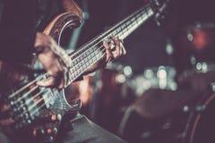 Passionerad gitarrist Music royaltyfri foto