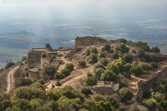Passionerad jägarefästning, Golan Heights, Israel Arkivbilder