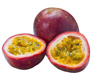 passionfruit изолированное изображением Стоковая Фотография RF
