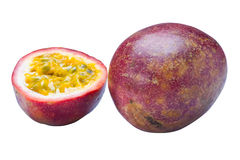 图象查出的passionfruit 免版税库存图片