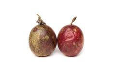 两passionfruit 免版税库存图片