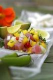 Passionfruit ceviche Royalty-vrije Stock Fotografie