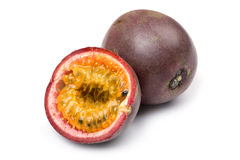 Passionfruit close up. Object on white - food Passionfruit close up Royalty Free Stock Image