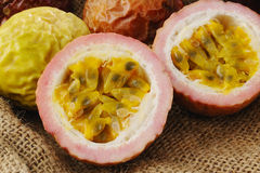Passionfruit cut Royalty Free Stock Image