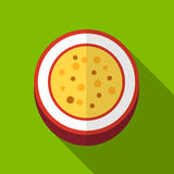 Passionfruit flat icon illustration Royalty Free Stock Images
