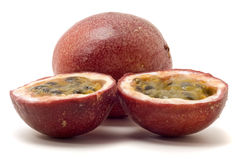 Free Passionfruit Halved With Pulp , Isolate Royalty Free Stock Images - 8300729
