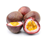 Passionfruit isolated on white background Royalty Free Stock Photos