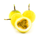 Passionfruit isolated on white background. Royalty Free Stock Images