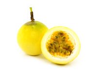 Passionfruit isolated on white background. Royalty Free Stock Photos