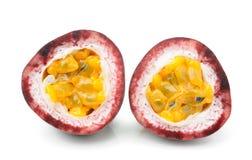 Passionfruit isolerade på vit Royaltyfri Foto